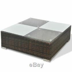 14 Pcs Cube Rattan Garden Furniture Set Sofa Seats Dining Table Outdoor T9O1