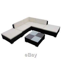 15Pcs Modern Corner Rattan Outdoor Garden Sofa Sets Seating Furniture Patio