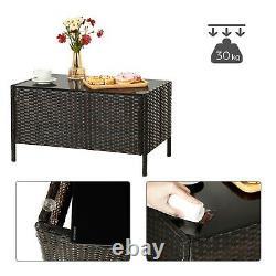 4 Pcs Rattan Garden Furniture Set Polyrattan Outdoor Patio Furniture GGF002BR1