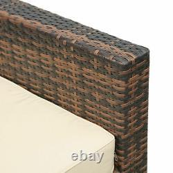 6 Seater Rattan Sofa Set Coffee Table Outdoor Garden Furniture Patio Dining Set