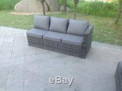 6 Seater rattan corner sofa set coffee table outdoor garden furniture Mix Grey
