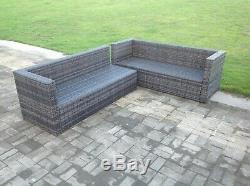 6 seater rattan corner sofa set coffee table outdoor garden furniture