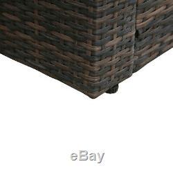 6PCS Outdoor Patio Garden Rattan Furniture Modular Corner Sofa Cushion Table Set