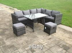 8 seater rattan corner sofa table chair furniture set outdoor garden furniture