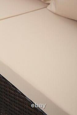 9Seat Grey/Brown Modular Corner Rattan Dining Set Garden Sofa Furniture Outdoor