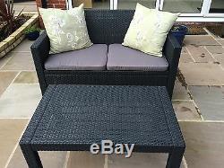 Allibert Merano Rattan Style Sofa Garden Furniture Set 5 Year Guarentee