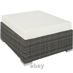 Aluminium Luxury Rattan Garden Furniture Sofa Lounge Set Outdoor Wicker Grey new