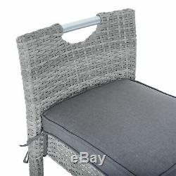 Azuma Barcelona Twist Bar Set Rattan Garden Patio Furniture With Ice Bucket