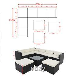 Casaria Poly Rattan Garden Furniture Sofa Set XXL Lounge Outdoor Corner Patio