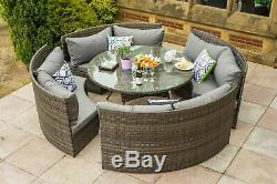 Conservatory Rattan Outdoor Garden Furniture 10 Seater Round Dining Table Set