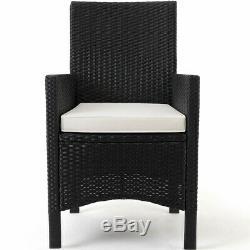 Deuba Poly Rattan Garden Furniture Dining Table Chairs Set Outdoor Patio 8 Seats