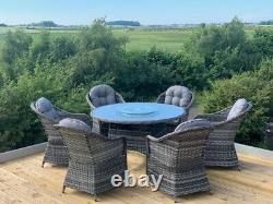 Florida Aluminium Rattan Garden Furniture 4/6 Seat, High Quality 5 Year Warranty