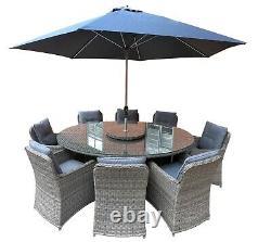 Garden Furniture 8 Seat Oval Dining Set
