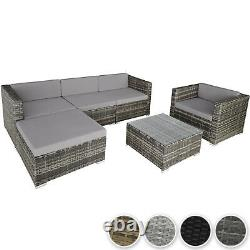 Garden Patio Furniture Set Wicker Outdoor Sofa Chair Table Poly Rattan Cushions