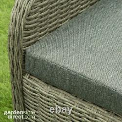 Greenwood Rattan Wicker Bistro Set Garden Furniture 5 Year Guarantee