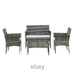 Grey Rattan Outdoor Garden Madrid Furniture Set Conservatory Patio Lounge