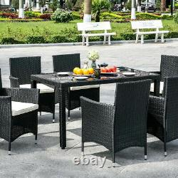 Harrier Rattan Garden Dining Table & Chair Set 6/8 Seater PATIO FURNITURE