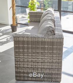 Limited! Outdoor Rattan Garden Furniture 3 Seater Sofa Patio Set + Rain Cover