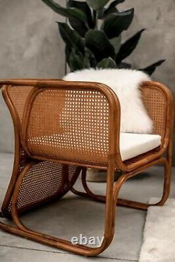 Natural Rattan Armchair Outdoor Indoor Patio Zorba Garden Furniture Conservatory