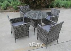New Bistro 2-4-6 Seater Rattan Wicker Dining Outdoor Garden Furniture Set