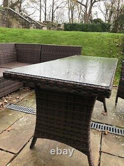 Outdoor Polyrattan garden furniture set used