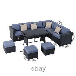 Outsunny 10PC Rattan Sofa Set Cushion Outdoor Garden Seat Wicker Weave Furniture