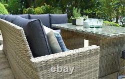 Palm Rattan Garden Furniture Corner Lounge Set, 9 seater RRP £999.00