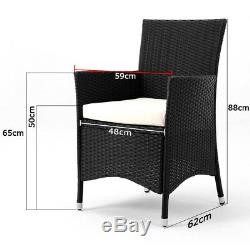 Poly Rattan Garden Furniture Dining Table Set 8 Cube Conservatory Outdoor Patio