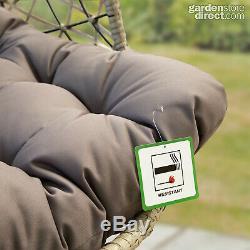 Rattan Cocoon Hanging Egg Chair Swing Wicker Garden Furniture In Or Outdoor