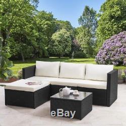 Rattan Corner Sofa Set Garden Furniture