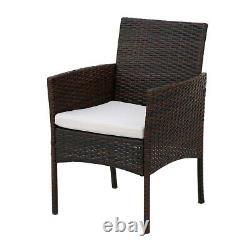 Rattan Furniture Bistro Set Garden Table Chair Patio Outdoor Conservatory Wicker