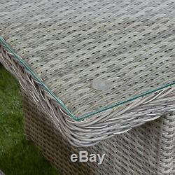Rattan Furniture Bretagne Garden Sofa 5 Seat Dining Set Table Chairs Reclining