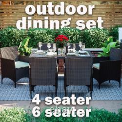 Rattan Garden Dining Set Furniture Table Chairs Outdoor 4 6 Seater Patio Malpas
