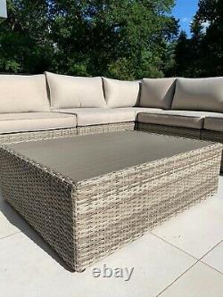 Rattan Garden Furniture 5 Seat, Corner Sofa Set & Coffee Table