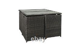 Rattan Garden Furniture Cube Set Chairs Sofa Table Outdoor Patio