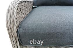 Rattan Garden Furniture Grey Sofa Dining Set With Adjustable Table