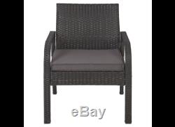 Rattan Garden Furniture Set 4 Piece Conservatory Patio Outdoor Table Chairs Sofa