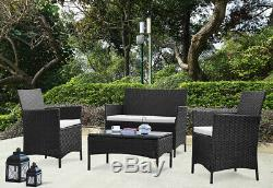 Rattan Garden Furniture Set Outdoor Lounge Chairs Sofa Table Conservatory Patio