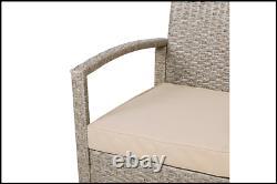 Rattan Garden Furniture Set Outdoor Patio Coffee Table Sofa Chairs Set 7 Pcs UK