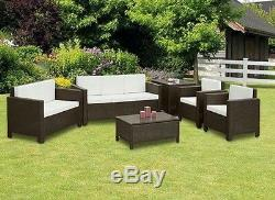 Rattan Garden Furniture Set Sofa Chairs Table Conservatory Outdoor Patio