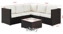Rattan Garden Furniture Sofa Set Outdoor Patio Corner Black Brown Grey Wicker