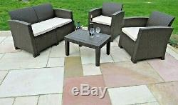 Rattan Garden Patio Conservatory Sofa Set Outdoor Chairs Furniture Seat 4