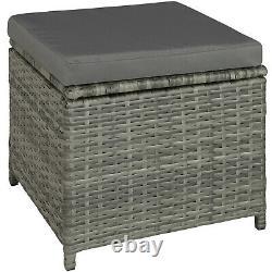 Rattan Garden Patio Furniture Set Sofas Stool Glass Table Outdoor Grey Beige new