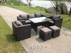 Rattan Lounge Conservatory Outdoor Garden Furniture Dining Set Corner Sofa Table