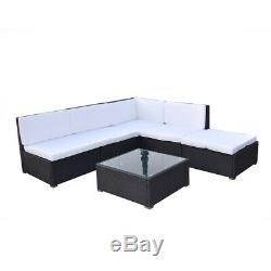 Rattan Outdoor Garden Sofa Furniture Sofabed Patio 4-5 Seaters With Table -uk