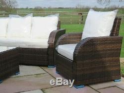Rattan Patio Garden Conservatory Outdoor Sofa Set Chairs Furniture