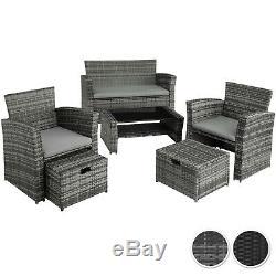 Rattan Seating Lounge Set Sofa Seats Stools Table Garden Outdoor Furniture Patio