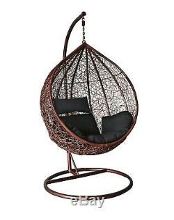 Rattan Wicker Effect Swing Indoor Hammock Lounger Garden Bedroom Patio Egg Chair