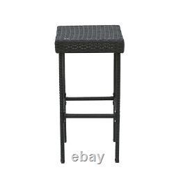 Rattan Wicker Garden Furniture 3 Set Stool Bar Table Patio Outdoor Conservator