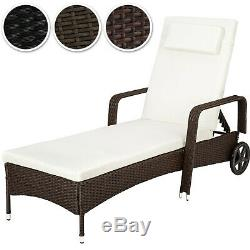 Rattan day bed sun canopy lounger recliner garden patio terrace furniture